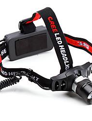 3-Mode Cree XR-E Q5 зум Светодиодные фары с красным светом потепления (380LM)