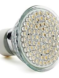 GU10 3.5W 80-светодиодный 400LM 2800-3500K теплый белый привели пятно лампы (220-240V)