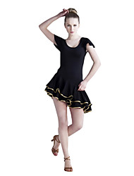 Dancewear Viscose With Ruffles Latin Dance Dress For Ladies