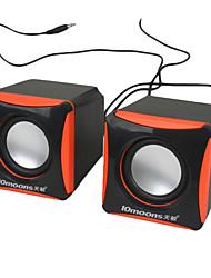 haut-parleurs USB Mini Cube pour PC, lecteur MP3 et les téléphones cellulaires mobiles (2W x 2)