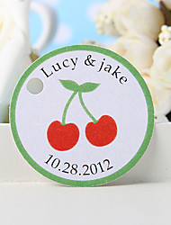Personalized Favor Tag - Cherry (Set of 36)