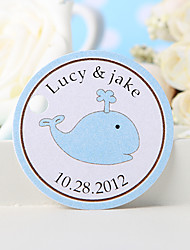 Personalized Favor Tag - Blue Whale (Set of 36)