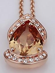18k strass magnifique en alliage de mode trésor collier