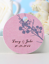 Personalized Favor Tag - Plum Blossom (Set of 36)