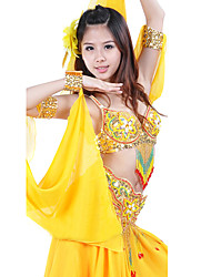 Dance Accessories Women's Performance Chiffon Yellow Belly Dance Spring, Fall, Winter, Summer