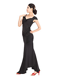 Dancewear Viscose Latin Dance Outfit For Ladies