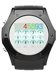 nouvelle ultra-mince en acier ensemble 1,4 pouces montre téléphone (quad-band bluetooth écran tactile)