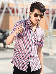 проверено мужской хлопчатобумажную рубашку