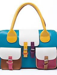 contrato senhoras elegantes de cor pu sacola (39 centímetros * 13cm * 26cm)
