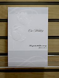 invitation élégante de mariage - jeu de 50