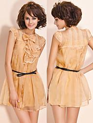 luxo ts gravata borboleta-100% seda vestido de organza (mais cores)