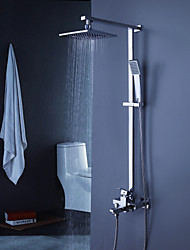 Shower tub Faucet Contemporary with 8 inch Shower Head with Hand Shower