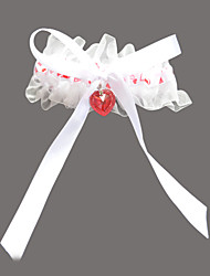 Garter Satin / Organza Rhinestone / Sweetheart Red