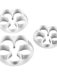 Rose Shape Cake and Cookie Cutter Mold (3 Pieces)