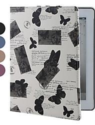 mariposas casos patrón del equipo con soporte para el ipad 2/3/4 (colores surtidos)