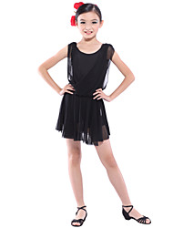 dancewear Viskose / Tüll latin dance dress für Kinder