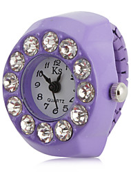 Women's Big Diamond Style Alloy Analog Quartz Ring Watch (Purple) Cool Watches Unique Watches