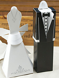12 Piece/Set Favor Holder - Cuboid Card Paper Favor Boxes Gown & Tux