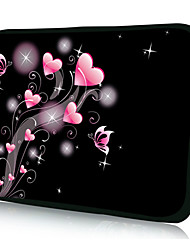 "Heart Bubbles Neoprene Laptop Sleeve Case for 10-15"" iPad MacBook Dell HP Acer Samsung"