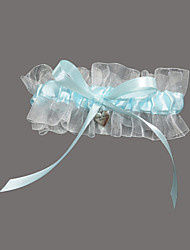 Garter Satin Organza Sweetheart Blue