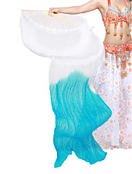 lindo seda fã dança do ventre para a mão direita para senhoras
