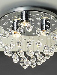 Modern 3 - Light Flush Mount Lights with Crystal Beads