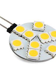 Foco LED de Luz Blanca Tibia de 100lm SMD de 9x5050 de 1.3W G4 de 12V