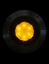 energia solar de aço inox luzes subterrâneas com 8 luzes LED