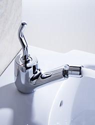 Robinet de salle de bain Sprinkle®  ,  Moderne  with  Chrome 1 poignée 1 trou  ,  Fonctionnalité  for Centerset