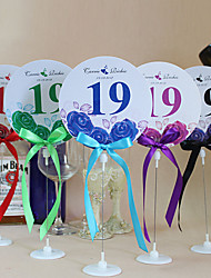 Place Cards and Holders Chic Round Shape Table Number Cards With Holders - Set Of 10(More Colors)