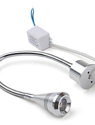 3W 170LM 3500K Warm White LED Flexible Neck Mirror Light Bulb with LED Driver (85~265V)