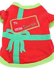 Santa's Little Helper Style Cotton Outfit for Dogs (XS-M, Red)