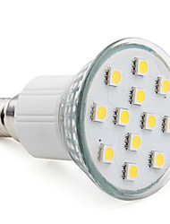3W E14 Focos LED MR16 12 SMD 5050 150 lm Blanco Cálido AC 100-240 V