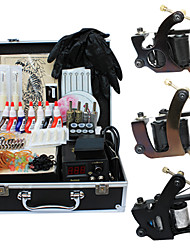 3 Alloy Tattoo Machine Kits with Top Quality LCD Power Supply