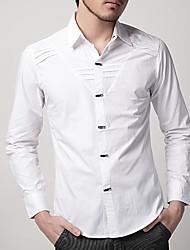 Man Elegant Long Sleeve Business Shirt