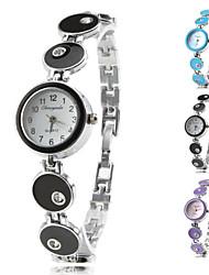 Damen Armband-Uhr Quartz Band Elegante Schwarz Blau Lila