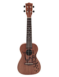 Rainie - (cc-01) ad alta grande solido concerto ukulele mogano con borsa gig / sintonizzatore (caffè tatoo)