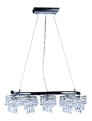 Comtemporary Crystal Pendant Lights with 10 LED Lights in Round