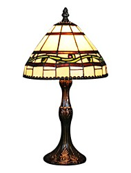 60W Tiffany Glass Table Light with Shade in Vine Pattern