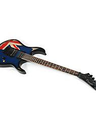 Derulo - profissional britânico bandeira guitarra stratocaster projeto elétrico com saco de correia / / picks / cabo / barra whammy