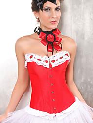 satin avec appliques shapewear busc devant bustier fermeture corset