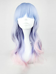Lolita Wigs Sweet Lolita Color Gradient Medium Pink / Blue Lolita Wig 55 CM Cosplay Wigs Patchwork Wig For Women