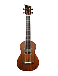 shaka - (las-2m) solide okoumé soprano ukulele hawaii avec étui concert (touche prolongée)