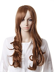 Capless High Quality Natural Look Long Brown Wave Hair Wig