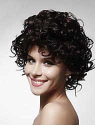 Capless court de haute qualité de synthèse des couleurs bouclés perruque de cheveux de multiples disponibles
