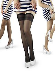 antiderrapante refinados meias de seda longos