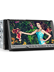 2 din tela TFT de 7 polegadas DVD player do carro in-dash com ipod-entrada, Bluetooth, GPS de navegação-pronto, RDS, tv