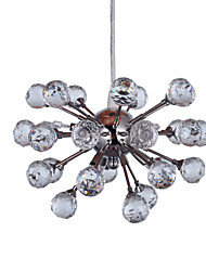Crystal Pendant light with 6 Lights in Artistic Style