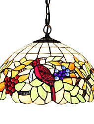 2 - Light Tiffany Pendent Lights with Grape Pattern
