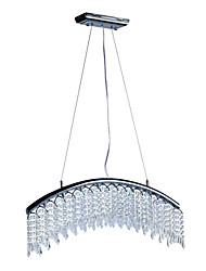 Comtemporary Crystal Pendant Lights with 8 LED Lights in Arc Design